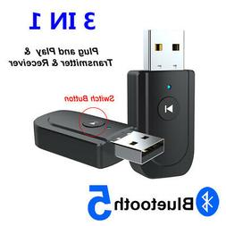 3 in1 USB Bluetooth 5.0 Audio Transmitter Receiver Adapter f