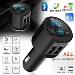 Wireless In-Car Bluetooth FM Transmitter MP3 Radio Adapter C