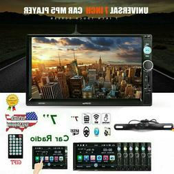"""7"""" Double 2DIN Car MP5 Player Bluetooth Touch Screen Stereo"""