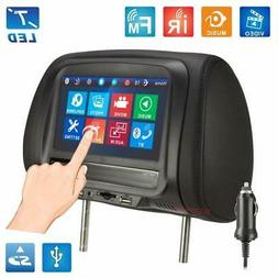 7 inches Touch Screen Car Headrest Monitor Multi-Media Playe