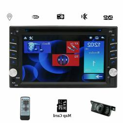 """Double Din In Dash 6.2"""" Car DVD Radio Stereo Player GPS Blue"""