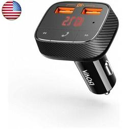 Anker Roav SmartCharge F0 Bluetooth FM Transmitter for Car,