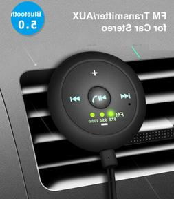 AUX-in Bluetooth Wireless Receiver Adapter FM Transmitter fo