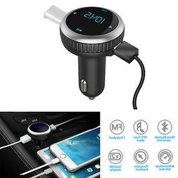 Bluetooth 4.2 in-car FM transmitter wireless radio adapter S