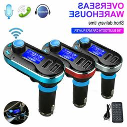 Bluetooth Car FM Transmitter Dual USB Charger Hands-free MP3