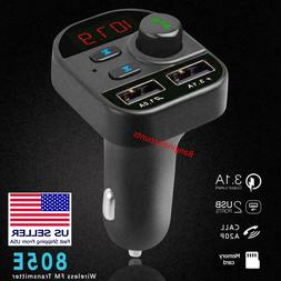 Bluetooth Car Wireless Adapter FM Transmitter MP3 Radio Car