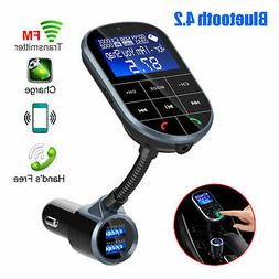 Bluetooth FM Transmitter Hands-free Car-Kit Radio AUX Audio