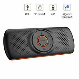 Bluetooth Handsfree Car Speaker, Upgraded Wireless in-Car Sp