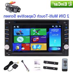 Camera Double 2DIN Touch Bluetooth DVD/CD Player Car Stereo