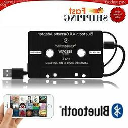 Car Bluetooth 4.0 Audio Stereo Cassette Tape Adapter To Aux