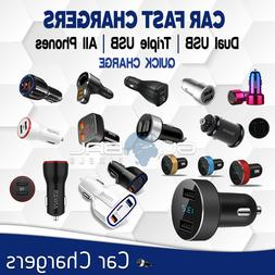 Car Charger Fast Charge Dual USB Port Android Micro USB / Ty