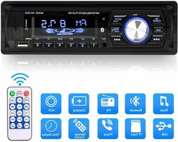Car Color Changing Bluetooth FM Stereo MP3 Player Dual USB H