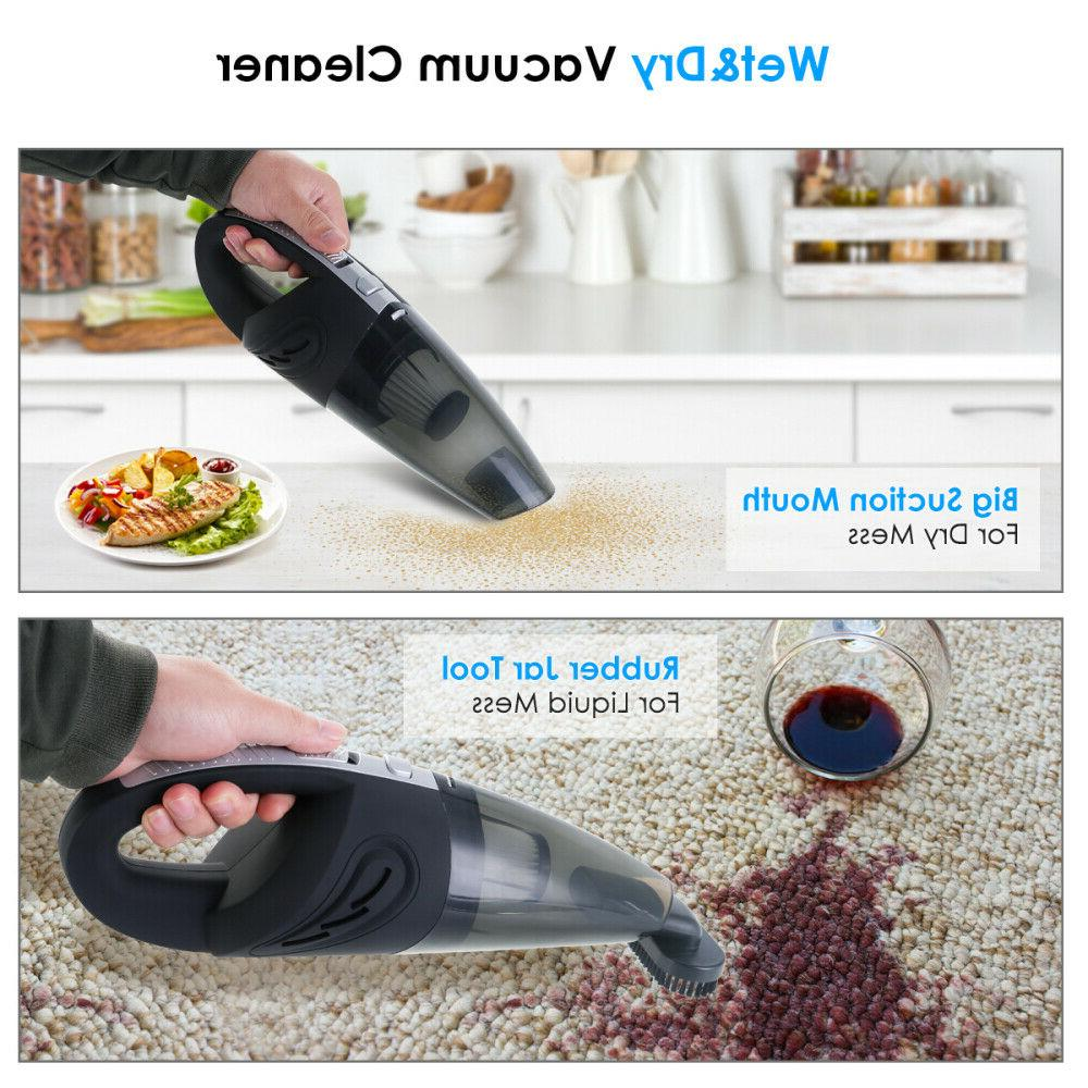 120W High Rechargeable Cordless & Dry Portable Car Vacuum Cleaner