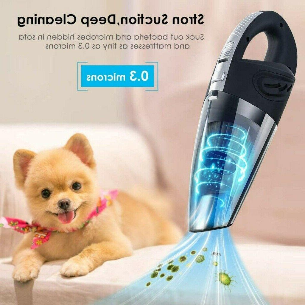 120W Power Rechargeable Cordless Portable Car Vacuum Cleaner