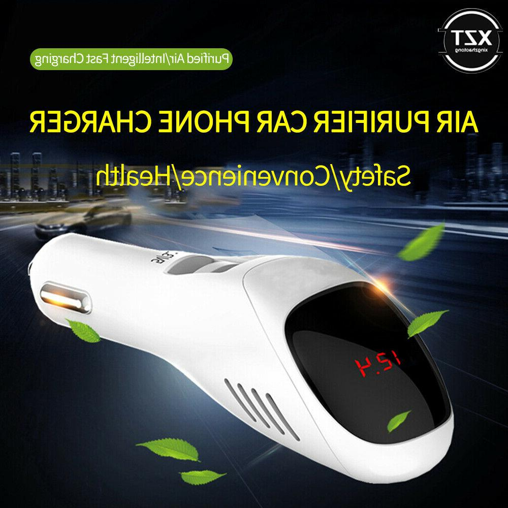 12V/24V Car SUV Air Purifier/ With Negative ions Odor USB Charger