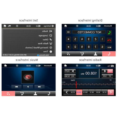 """7"""" Double 2 DIN Car Player Bluetooth Touch Stereo With Camera"""