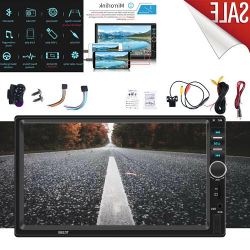 """7"""" Double 2 Car MP5 Touch Radio With Camera"""