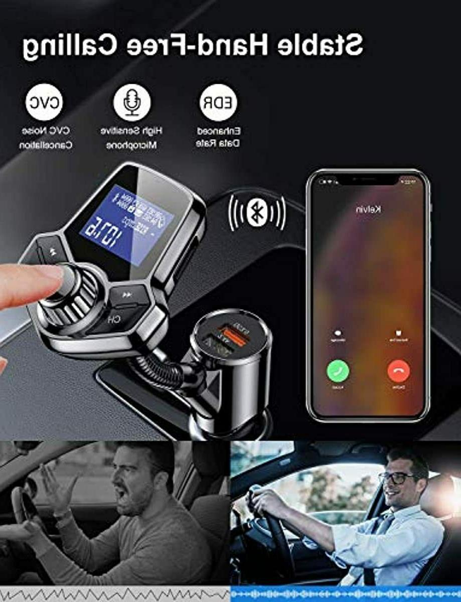 AINOPE Transmitter for Car,[QC3.0+2.4A O
