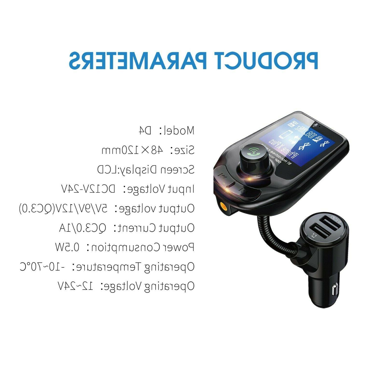Bluetooth Car MP3 Player Hands Radio Kit Charger