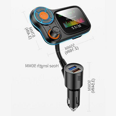 """Bluetooth MP3 Player USB Charger 1.8"""" Screen"""