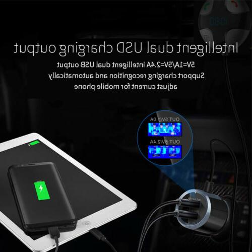 Bluetooth Wireless In-Car Dual USB Charger