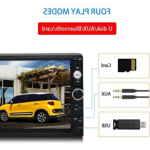 Car MP5 Player Double 2DIN Screen AUX