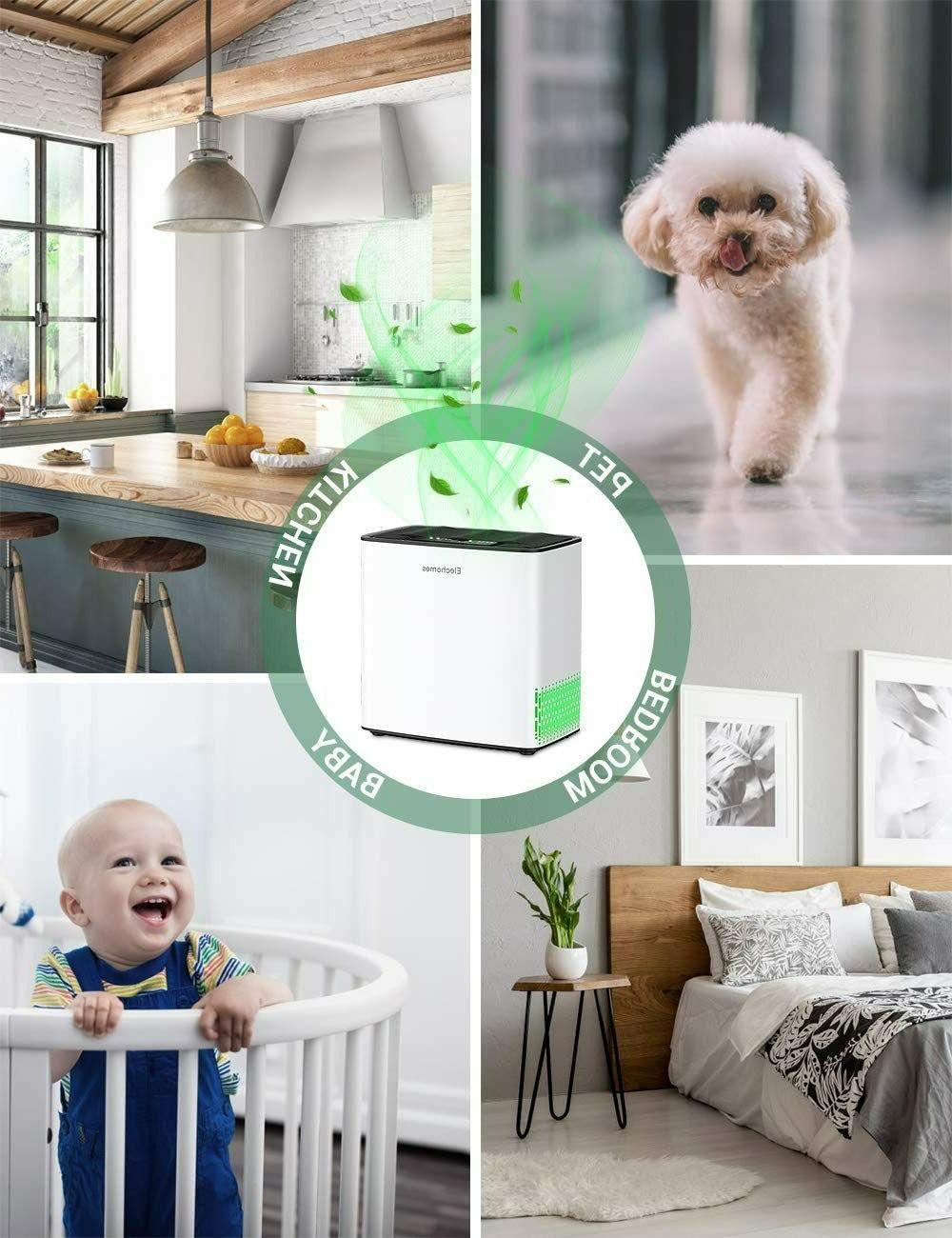 Elechomes Air Purifier for and Pets Hair Smokers