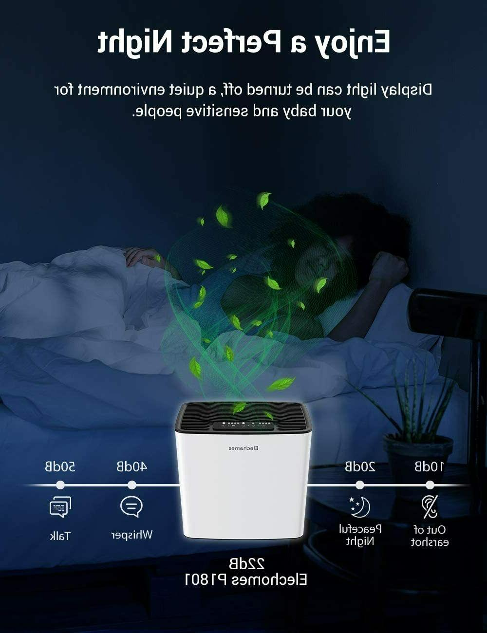 Elechomes Air Purifier for Bedroom Allergies