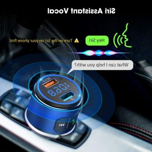 VicTsing Wireless Bluetooth FM Transmitter QC3.0