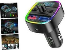 Nulaxy Bluetooth FM Transmitter for Car, QC3.0 & 7 Colors LE