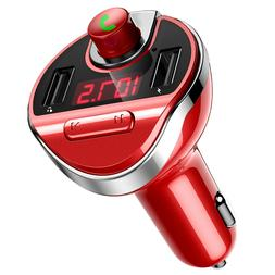 Red Car FM Transmitter Wireless Bluetooth MP3 @ Player Radio