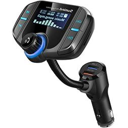 bluetooth fm transmitter,  wireless radio adapter hands-fre