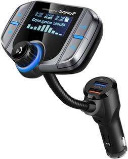 Sumind Car Bluetooth FM Transmitter, Wireless Radio Adapter