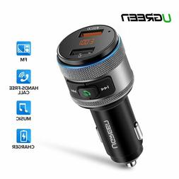 USB Car Charger Bluetooth FM Transmitter QC Quick 3.0 Charge