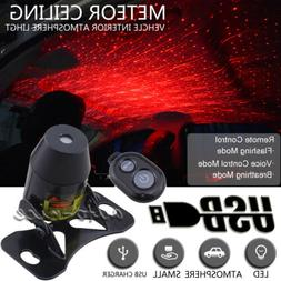 USB Meteor Star LED Car Ambient Ceiling Light Home Interior