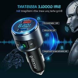 VicTsing V5.0 Bluetooth FM Transmitter QC3.0 Radio Adapter C