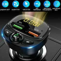 Wireless Bluetooth 5.0 FM Transmitter QC3.0 Hands-free Radio