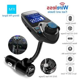 Wireless Bluetooth FM Transmitter Radio Adapter Hands-free C