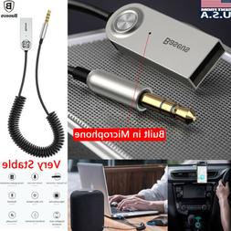 Wireless Bluetooth USB Adapter Cable 3.5mm Aux Jack Audio St